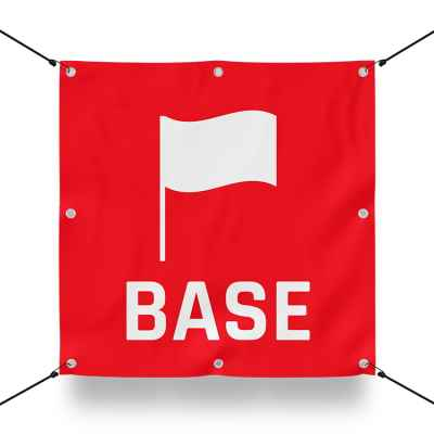 TEAM BASE RED sign for paintball playfield / airsoft playfield (60x60cm) | Paintball Sports