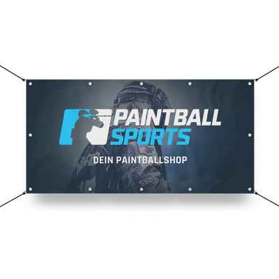 Paintball Sports Banner 130x70cm (Tournament Player) | Paintball Sports