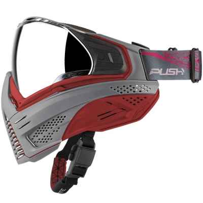 Push Unite Paintball Mask (gray / red) | Paintball Sports