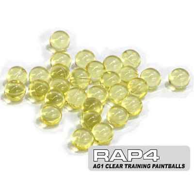Rap4 AG1 Clear / Clear Training Paintballs (Box of 2000) | Paintball Sports