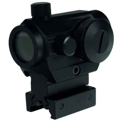 T1 Tactical Scope Red Dot Sight (20mm Rail, Black) | Paintball Sports