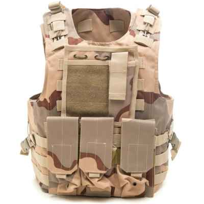 Takitsche Molle Vest with Pockets (Desert Camo) | Paintball Sports