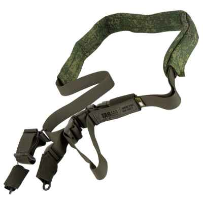 Taginn PRO SLING Straps / Tactical Sling (Green, Comfort Pad EMR) | Paintball Sports