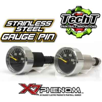 TechT Tippmann X7 Phenom Stainless Steel Gauge Pin (Black) | Paintball Sports