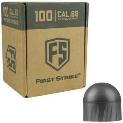 Tiberius Arms First Strike Paintballs 100 rounds box (dark gray) - filling WHITE | Paintball Sports