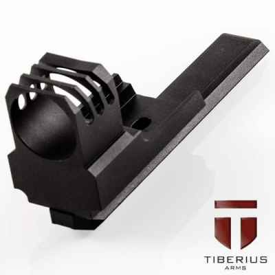 Tiberius Arms T8.1 & T9.1 Ripped Front Shroud (Black) | Paintball Sports