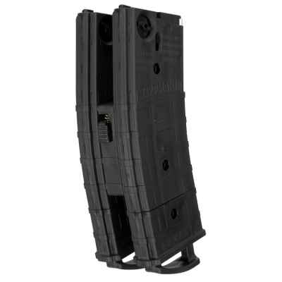 Tippmann TMC Cal. 68 Replacement Magazines with Coupler (2 Pack) - All Black (Black) | Paintball Sports