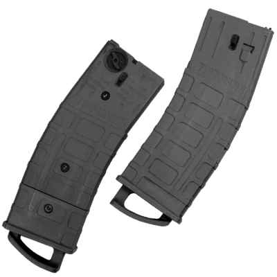 Tippmann TMC Replacement Magazines (2 Pack) - All Black (Black) | Paintball Sports