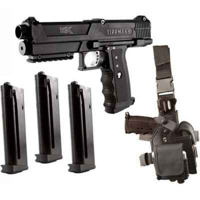 Tippmann TPX Deluxe Pistol Kit (black) | Paintball Sports