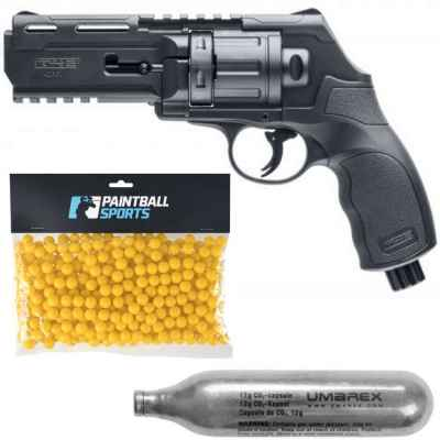 Umarex HDR50 Paintball Revolver Players Pack (Black) | Paintball Sports