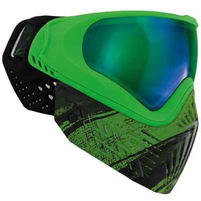 Virtue VIO EXTENDED Graphics Paintball Mask (Emerald) | Paintball Sports