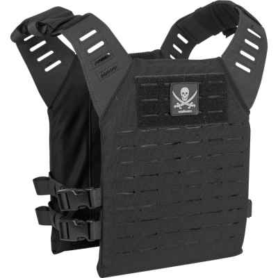 Valken Alpha Plate Carrier LC / Paintball Vest (Black Pirate) | Paintball Sports