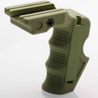 Ergonomic magazine front handle for 20mm rail (olive) | Paintball Sports