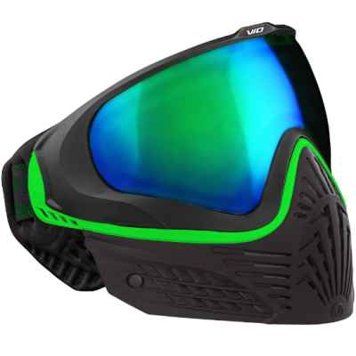Virtue VIO EXTENDED Paintball Thermal Mask (Black Emerald) | Paintball Sports