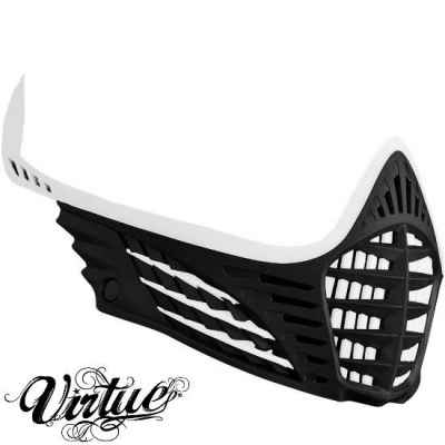 Virtue VIO facemask / mask frame (white - black - white) | Paintball Sports