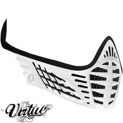 Virtue VIO Facemask / Mask Frame (White - White - Black) | Paintball Sports