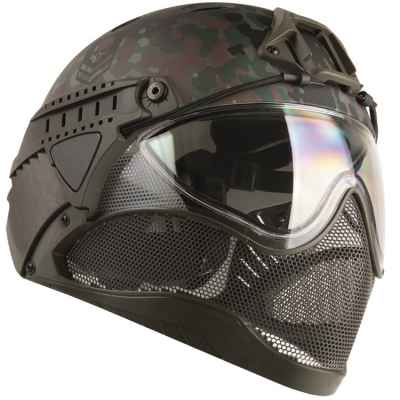 WarQ Fullface Airsoft / Paintball Helmet (FLECKTARN Special Edition) | Paintball Sports
