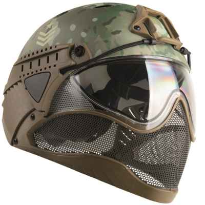 WarQ Fullface Airsoft / Paintball Safety Helmet (MULTICAM Special Edition) | Paintball Sports