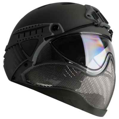 WarQ Fullface Airsoft / Paintball Helmet (GRAY) | Paintball Sports