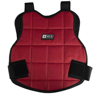 XRCS paintball bust armor / upper body protection (red) | Paintball Sports