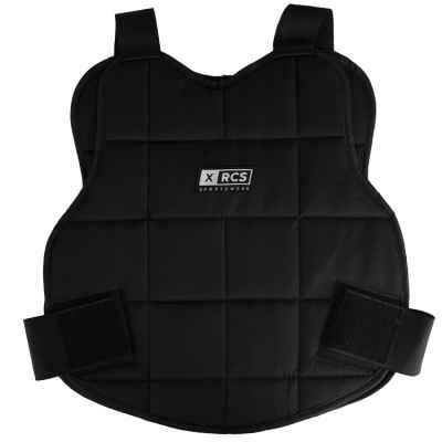 XRCS paintball bust protector / upper body protection (black) | Paintball Sports