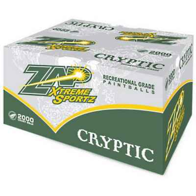 ZAP Cryptic Training Field Paintballs (Box of 2000)   Paintball Sports