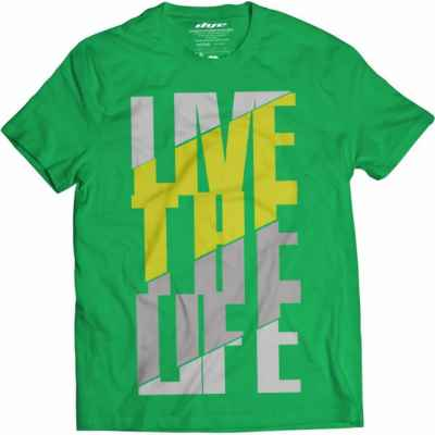 DYE T-Shirt Live the Life (green / gray) | Paintball Sports