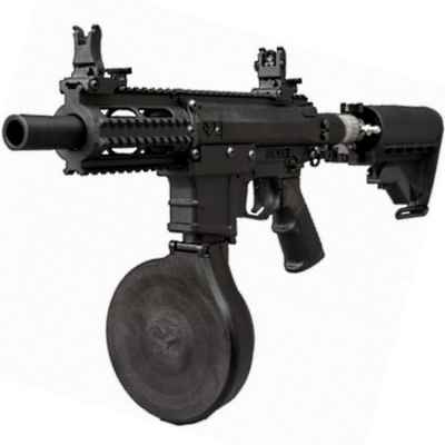 Milsig M17 PMC paintball submachine gun (black) - TEMPEST | Paintball Sports
