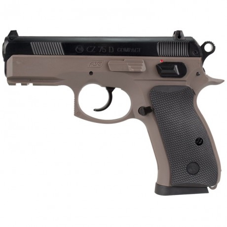 ASG CZ 75D Compact Airsoft Pistol (tan) | Paintball Sports