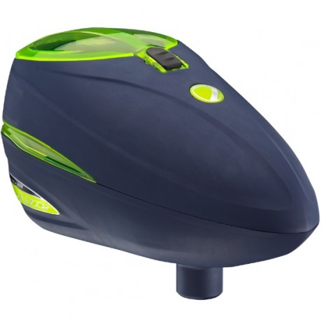 Dye Rotor R-2 Paintball Loader (Navy / Lime Green) | Paintball Sports