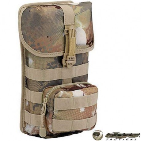 Dye Tactical Double Molle Pod Bag, Isolated (Dyecam) | Paintball Sports