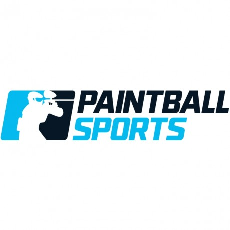 Paintball Sports Sticker (15cm) - blue / black | Paintball Sports