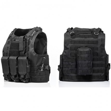 Tactical Paintball Molle Vest with pockets (black) | Paintball Sports