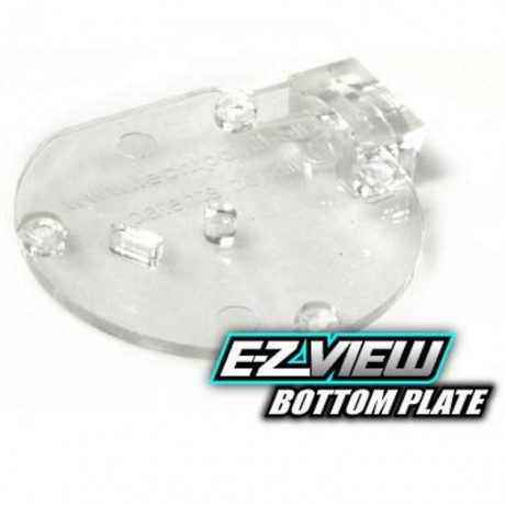 TechT EZ-View Cyclone Feed bottom plate (clear) | Paintball Sports