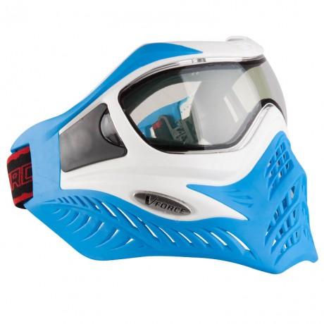V-Force Grill Paintball Thermal Mask Ltd Edition (white / blue) | Paintball Sports